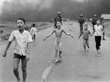 Kim Phuc - the Vietnamese napalm girl; Credit: Nick Ut