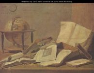 Teniers_Still-life-with-globe-and-books