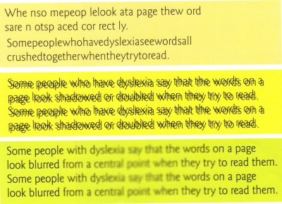 What dyslexia might look like