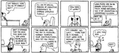 Dilbert - Cognitive dissonance