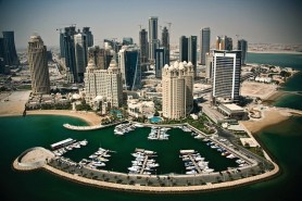 An aerial view of Doha, capital of the State of Qatar. Photo-credit: Royal Dutch Shell Media Library